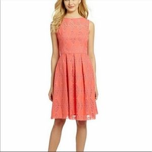 Maggy London coral lace detail
